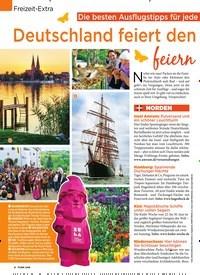 Titelbild der Ausgabe 19/2019 von Freizeit-Extra: Die besten Ausflugstipps für jede Region: Deutschland feiert den Frühling – feiern Sie mit!. Zeitschriften als Abo oder epaper bei United Kiosk online kaufen.