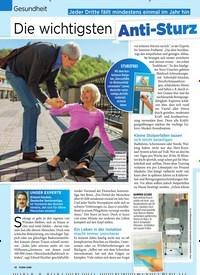 Titelbild der Ausgabe 20/2019 von Gesundheit: Die wichtigsten Anti-St urz-Tipps für Senioren. Zeitschriften als Abo oder epaper bei United Kiosk online kaufen.