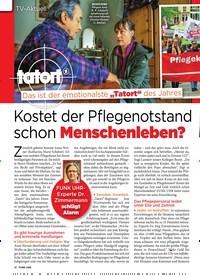 Titelbild der Ausgabe 20/2019 von TV-Aktuell: Kostet der Pflegenotstand schon Menschenleben?. Zeitschriften als Abo oder epaper bei United Kiosk online kaufen.