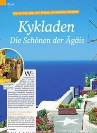 Titelbild der Ausgabe 20/2019 von Reise: Kykladen Die Schönen der Ägäis. Zeitschriften als Abo oder epaper bei United Kiosk online kaufen.