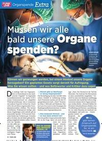 Titelbild der Ausgabe 21/2019 von Organspende Extra: Müssen wir alle bald unsere Organe spenden?. Zeitschriften als Abo oder epaper bei United Kiosk online kaufen.