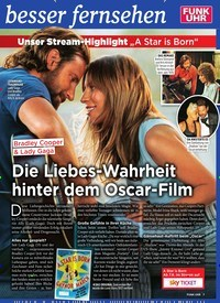 Titelbild der Ausgabe 22/2019 von Die Liebes-Wahrheit hinter dem Oscar-Film. Zeitschriften als Abo oder epaper bei United Kiosk online kaufen.