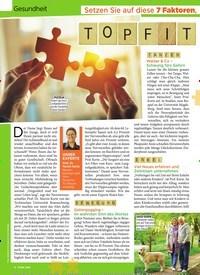 Titelbild der Ausgabe 23/2019 von Gesundheit: Setzen Sie auf diese 7 Faktoren, die Ihr Gehirn länger jung halten: TOPFIT IM KOPE. Zeitschriften als Abo oder epaper bei United Kiosk online kaufen.