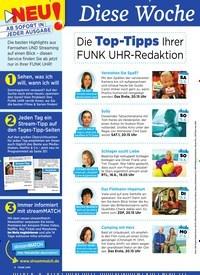Titelbild der Ausgabe 24/2019 von Diese Woche besser fernsehen: Die Top-Tipps Ihrer FUNK UHR-Redaktion. Zeitschriften als Abo oder epaper bei United Kiosk online kaufen.