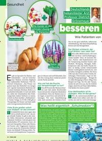 Titelbild der Ausgabe 24/2019 von GESUNDHEIT: Die Kunst der besseren Schulmedizin. Zeitschriften als Abo oder epaper bei United Kiosk online kaufen.