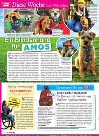 Titelbild der Ausgabe 26/2019 von Diese Woche zum Mitreden: TIERIS CH BESTE FREUNDE: Ein Blindenhund für AMOS. Zeitschriften als Abo oder epaper bei United Kiosk online kaufen.