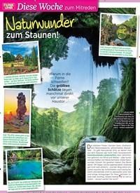 Titelbild der Ausgabe 27/2019 von Naturwunder zum Staunen!. Zeitschriften als Abo oder epaper bei United Kiosk online kaufen.