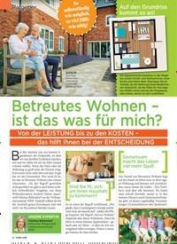 Titelbild der Ausgabe 27/2019 von Ratgeber: Betreutes Wohnen – ist das was für mich?. Zeitschriften als Abo oder epaper bei United Kiosk online kaufen.