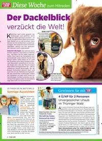 Titelbild der Ausgabe 28/2019 von Diese Woche zum Mitreden: Der Dackelblick verzückt die Welt!. Zeitschriften als Abo oder epaper bei United Kiosk online kaufen.