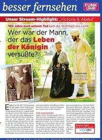 """Titelbild der Ausgabe 28/2019 von Unser Stream-Highlight: """"Victoria & Abdul"""":Wer war der Mann, der das Leben der Königin versüßte?. Zeitschriften als Abo oder epaper bei United Kiosk online kaufen."""