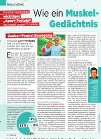 Titelbild der Ausgabe 28/2019 von Gesundheit: Wie ein Muskel-Hormon hilft, das Gedächtnis zu verbessern. Zeitschriften als Abo oder epaper bei United Kiosk online kaufen.