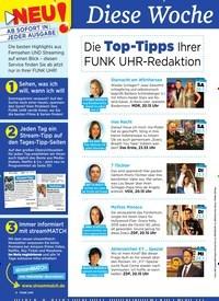Titelbild der Ausgabe 29/2019 von Diese Woche besser fernsehen: Die Top-Tipps Ihrer FUNK UHR-Redaktion. Zeitschriften als Abo oder epaper bei United Kiosk online kaufen.