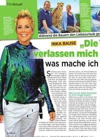 """Titelbild der Ausgabe 31/2019 von TV-Aktuell: INKA BAUSE: """"Die Männer verlassen mich immer, was mache ich falsch?"""". Zeitschriften als Abo oder epaper bei United Kiosk online kaufen."""