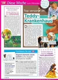 Titelbild der Ausgabe 34/2019 von Diese Woche zum Mitreden : Top versorgt im : Teddy- Krankenhaus. Zeitschriften als Abo oder epaper bei United Kiosk online kaufen.