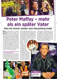 Titelbild der Ausgabe 34/2019 von Mit 70 hat er noch Träume : Peter Maffay – mehr als ein später Vater. Zeitschriften als Abo oder epaper bei United Kiosk online kaufen.