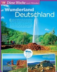 Titelbild der Ausgabe 36/2019 von Diese Woche zum Mitreden: Wunderland Deutschland. Zeitschriften als Abo oder epaper bei United Kiosk online kaufen.