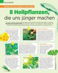 Titelbild der Ausgabe 36/2019 von Nutzen Sie Anti-Aging aus der Natur: 8 Heilpflanzen, die uns jünger machen. Zeitschriften als Abo oder epaper bei United Kiosk online kaufen.