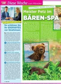 Titelbild der Ausgabe 37/2019 von SCHLEMMEN, BADEN, SCHL AFEN: Meister Petz im: BÄREN-SPA. Zeitschriften als Abo oder epaper bei United Kiosk online kaufen.
