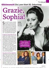 Titelbild der Ausgabe 37/2019 von Glückwunsch! Die Loren feiert 85. Geburtstag: Grazie, Sophia!. Zeitschriften als Abo oder epaper bei United Kiosk online kaufen.