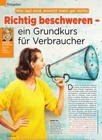 Titelbild der Ausgabe 37/2019 von Wer laut wird, erreicht meist gar nichts: Richtig beschweren – ein Grundkurs für Verbraucher. Zeitschriften als Abo oder epaper bei United Kiosk online kaufen.