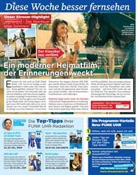 Titelbild der Ausgabe 38/2019 von Diese Woche besser fernsehen: Ein moderner Heimatfilm, der Erinnerungen weckt. Zeitschriften als Abo oder epaper bei United Kiosk online kaufen.