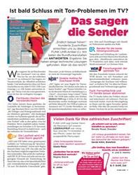 Titelbild der Ausgabe 38/2019 von Ist bald Schluss mit Ton-Problemen im TV?: Das sagen die Sender. Zeitschriften als Abo oder epaper bei United Kiosk online kaufen.