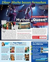 """Titelbild der Ausgabe 39/2019 von Diese Woche besser fernsehen: """"Bohemian Rhapsody"""" Mythos """"Queen"""" Die Geheimnisse hinter dem Oscar-Film. Zeitschriften als Abo oder epaper bei United Kiosk online kaufen."""
