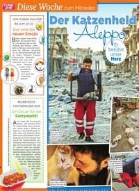 Titelbild der Ausgabe 40/2019 von Diese Woche zum Mitreden: Der Katzenheld von Aleppo. Zeitschriften als Abo oder epaper bei United Kiosk online kaufen.
