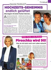 Titelbild der Ausgabe 40/2019 von TV-Aktuell: Désirée Nosbusch: HOCHZEITS-GEHEIMNIS endlich gelüftet. Zeitschriften als Abo oder epaper bei United Kiosk online kaufen.