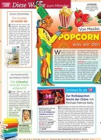 Titelbild der Ausgabe 41/2019 von Diese Woche zum Mitreden: Von Mexiko n ach D eutschland: POPCORN & CO. –:was wir den Azteken verdanken. Zeitschriften als Abo oder epaper bei United Kiosk online kaufen.