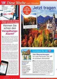 Titelbild der Ausgabe 42/2019 von Jetzt tragen die Wälder ihr buntes Gew and. Zeitschriften als Abo oder epaper bei United Kiosk online kaufen.