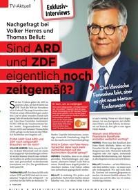 Titelbild der Ausgabe 42/2019 von TV-Aktuell: Nachgefragt bei Volker Herres und Thomas Bellut: Sind ARD und ZDF eigentlich noch zeitgemäß?. Zeitschriften als Abo oder epaper bei United Kiosk online kaufen.