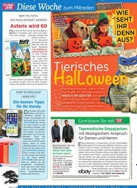 Titelbild der Ausgabe 44/2019 von WIE SEHT IHR DENN AUS? Tierisches HalLoween. Zeitschriften als Abo oder epaper bei United Kiosk online kaufen.