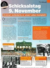 Titelbild der Ausgabe 44/2019 von Schicksalstag 9. November. Zeitschriften als Abo oder epaper bei United Kiosk online kaufen.