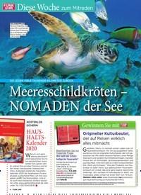Titelbild der Ausgabe 45/2019 von Diese Woche zum Mitreden: Meeresschildkröten – NOMADEN der See. Zeitschriften als Abo oder epaper bei United Kiosk online kaufen.
