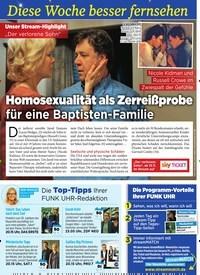 Titelbild der Ausgabe 45/2019 von Diese Woche besser fernsehen: Homosexualität als Zerreißprobe für eine Baptisten-Familie. Zeitschriften als Abo oder epaper bei United Kiosk online kaufen.