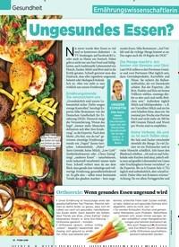 Titelbild der Ausgabe 45/2019 von Gesundheit: Ungesundes Essen? Das gibt es gar nicht!. Zeitschriften als Abo oder epaper bei United Kiosk online kaufen.