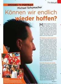 Titelbild der Ausgabe 46/2019 von GROSSES TV-PORTRAIT: Michael Schumacher: Können wir endlich wieder hoffen?. Zeitschriften als Abo oder epaper bei United Kiosk online kaufen.