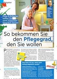 Titelbild der Ausgabe 46/2019 von Ratgeber: So bekommen Sie den Pflegegrad, den Sie wollen. Zeitschriften als Abo oder epaper bei United Kiosk online kaufen.