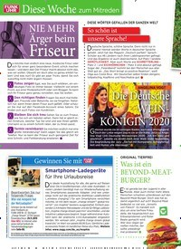 Titelbild der Ausgabe 47/2019 von Diese Woche zum Mitreden: NIE MEHR Ärger beim Friseur. Zeitschriften als Abo oder epaper bei United Kiosk online kaufen.