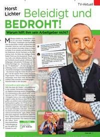 Titelbild der Ausgabe 47/2019 von TV-Aktuell: Horst Lichter: Beleidigt und BEDROHT!. Zeitschriften als Abo oder epaper bei United Kiosk online kaufen.