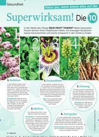 Titelbild der Ausgabe 47/2019 von Natur pur, wenn einem alles auf die Nerven geht: Superwirksam! Die 10 besten Anti-Stress-Pflanzen. Zeitschriften als Abo oder epaper bei United Kiosk online kaufen.