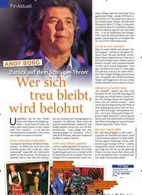 Titelbild der Ausgabe 49/2019 von TV-Aktuell: Zurück auf dem Schlager-Thron!: Wer sich treu bleibt, wird belohnt. Zeitschriften als Abo oder epaper bei United Kiosk online kaufen.