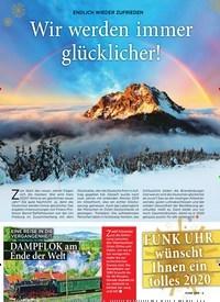 Titelbild der Ausgabe 52/2019 von ENDLICH WIEDER ZUFRIEDEN: Wir werden immer glücklicher!. Zeitschriften als Abo oder epaper bei United Kiosk online kaufen.