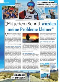 """Titelbild der Ausgabe 1/2020 von Extra: """"Mit jedem Schritt wurden meine Probleme kleiner"""". Zeitschriften als Abo oder epaper bei United Kiosk online kaufen."""