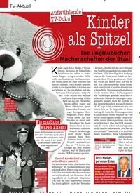 Titelbild der Ausgabe 2/2020 von TV-Aktuell: Aufwühlende TV- Doku: Kinder als Spitzel: Die unglaublichen Machenschaften der Stasi. Zeitschriften als Abo oder epaper bei United Kiosk online kaufen.
