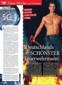 Titelbild der Ausgabe 3/2020 von Diese Woche zum Mitreden: HEISSE FOTOS FÜR KALTE TAGE: Deutschlands SCHÖNSTER Feuerwehrmann. Zeitschriften als Abo oder epaper bei United Kiosk online kaufen.