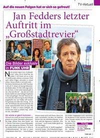 """Titelbild der Ausgabe 4/2020 von Jan Fedders letzter Auftritt im """"Großstadtrevier"""". Zeitschriften als Abo oder epaper bei United Kiosk online kaufen."""