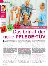 Titelbild der Ausgabe 4/2020 von Ratgeber: Qualitäts-System statt Noten: 1,2Das bringt der neue PFLEGE-TÜV. Zeitschriften als Abo oder epaper bei United Kiosk online kaufen.
