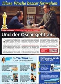 """Titelbild der Ausgabe 5/2020 von Diese Woche besser fernsehen: """"The Irishman"""" - Das Mafia-Epos gilt als Favorit: Und der Oscar geht an …. Zeitschriften als Abo oder epaper bei United Kiosk online kaufen."""